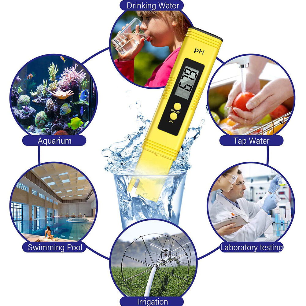 Portable Digital LCD Ph Meter Tester for Pool Water Wine Urine Aquarium