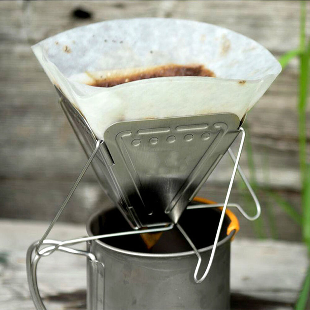Folding Coffee Dripper Holder Outdoor Camping Picnic Tea Coffee Filter Rack