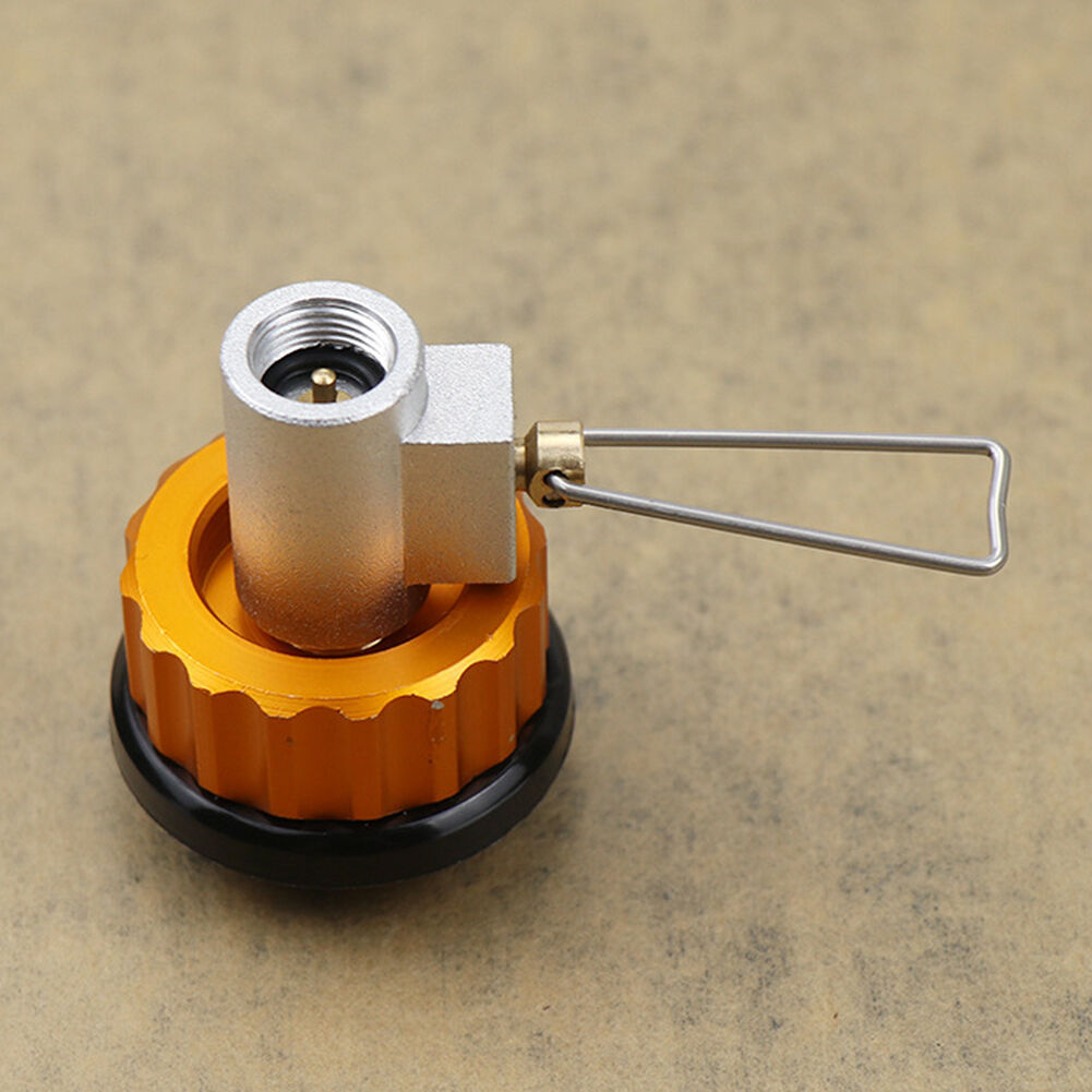 Outdoor Stove Flat Valve Gas Refill Adapter Camping Cookware Equipment