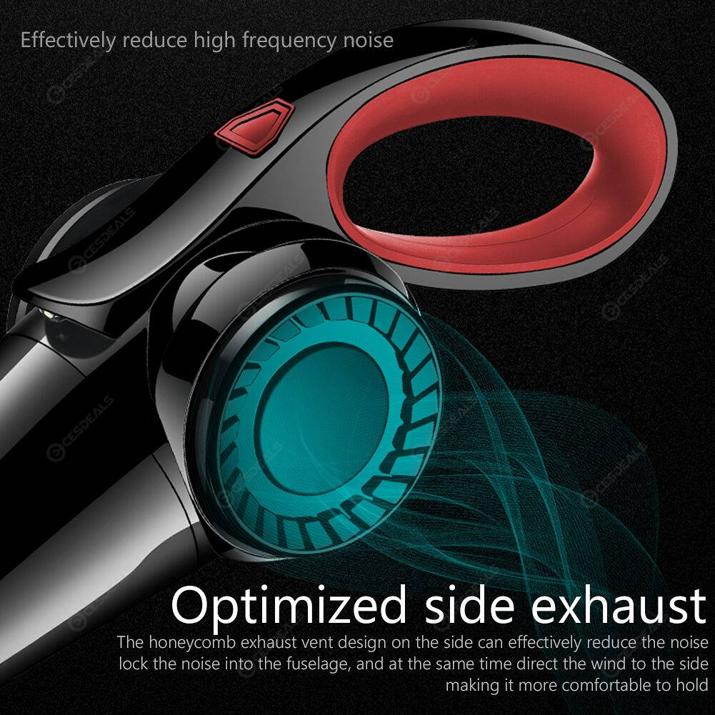 120W 4500Pa 12V Handheld Car Vacuum Cleaner with LED Light (Black+Red)