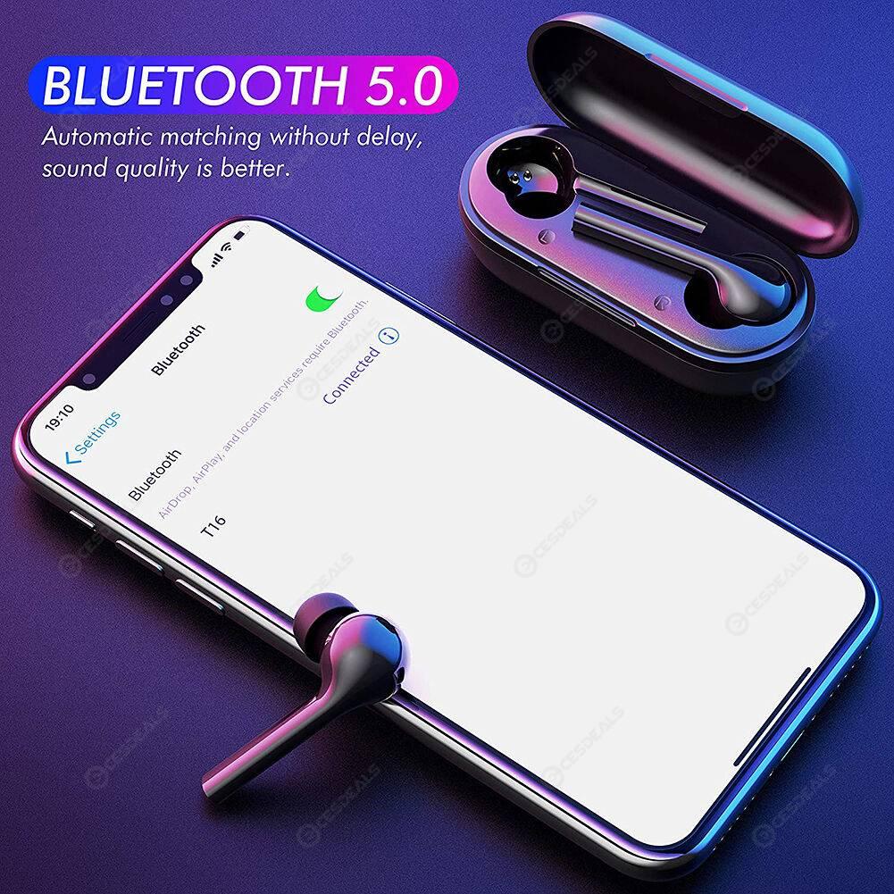 Bluetooth Touch Earphones Stereo IPX5 Deep Bass Wireless Sport Music Earbud