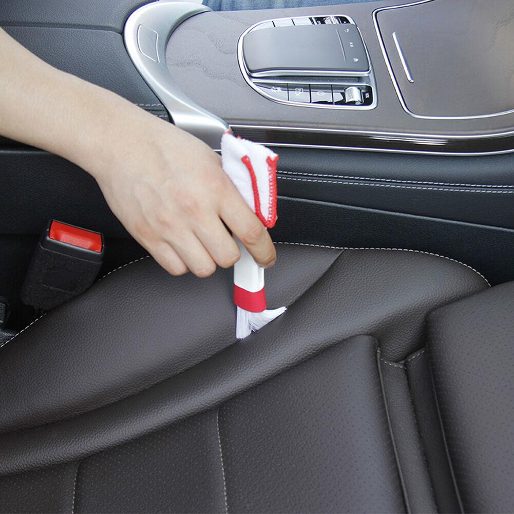 Microfiber Cleaner Brush for Car AC Vent Home Window Blind Keyboard (White)