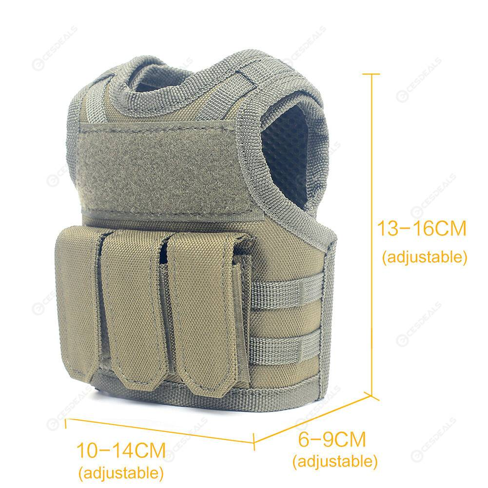 Beer Bottle Molle Mini Vests Xmas Cooler Beverage Drink Cover (Army Green)