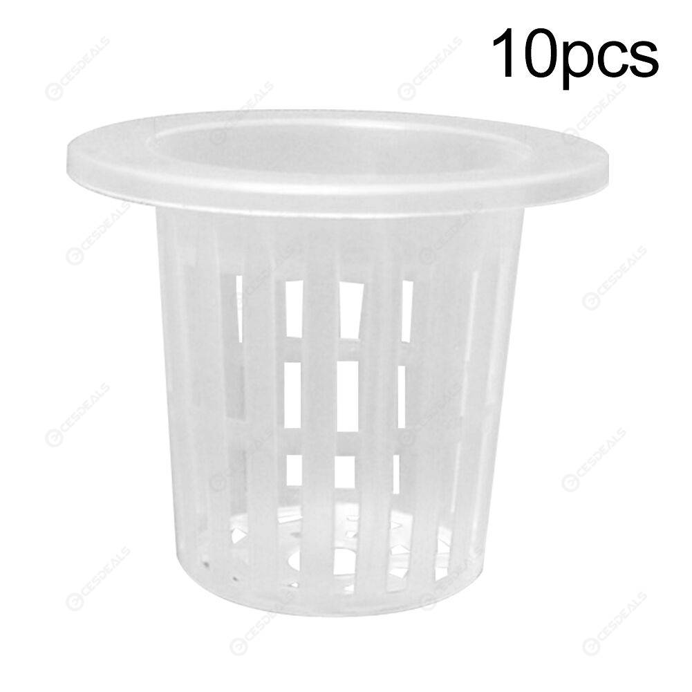 10pcs Hydroponic Colonization Mesh Pot Basket Planting Nursery Cups (60mm)