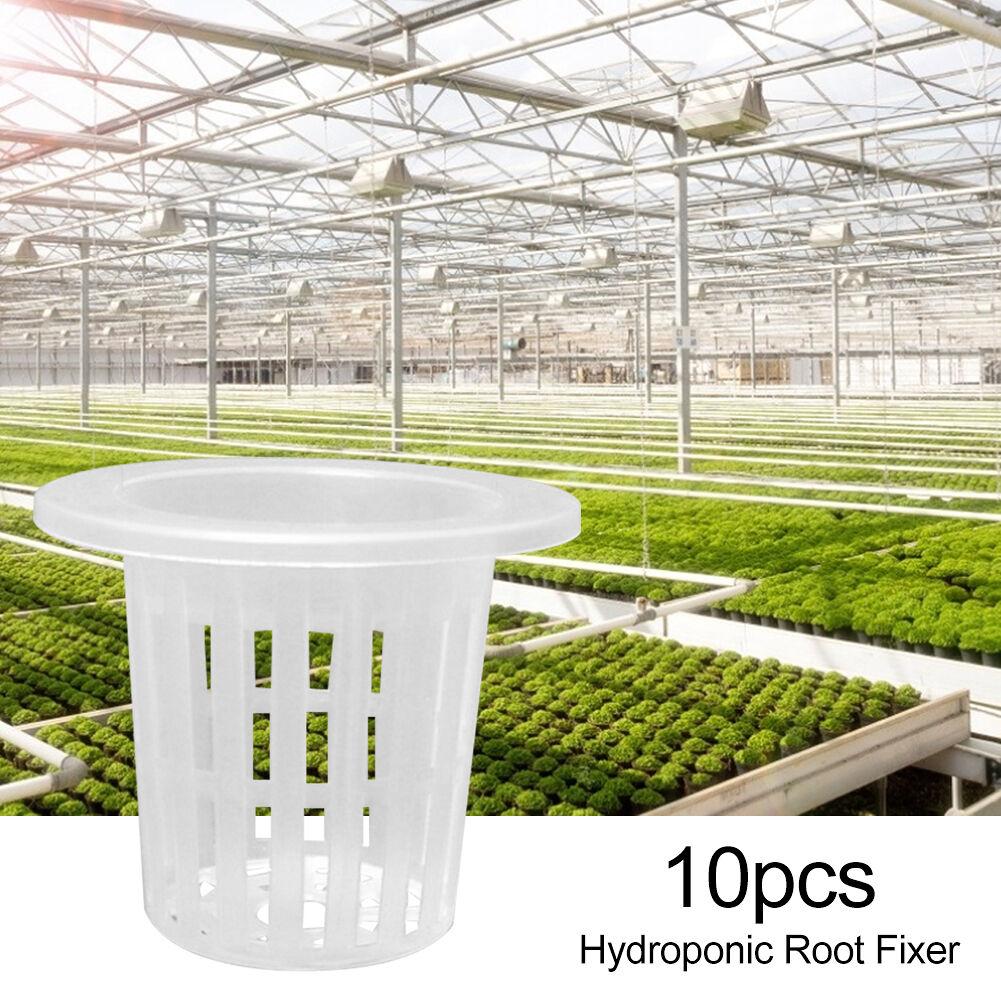 10pcs Hydroponic Colonization Mesh Pot Basket Planting Nursery Cups (60mm)