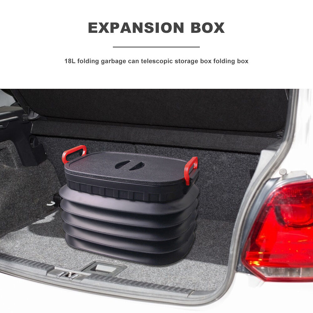 18L Folding Car Trash Can Outdoor Camping Fishing Auto Cargo Storage Box